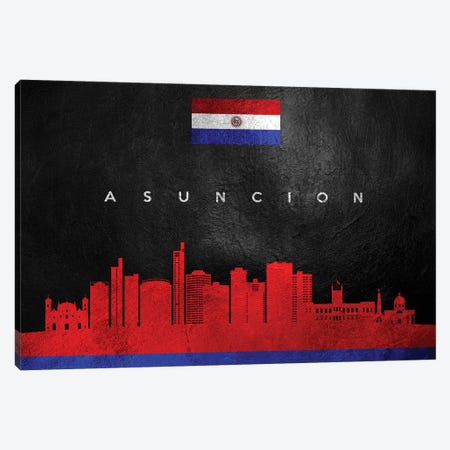 Asuncion Paraguay Skyline Canvas Print #ABV159} by Adrian Baldovino Canvas Art Print