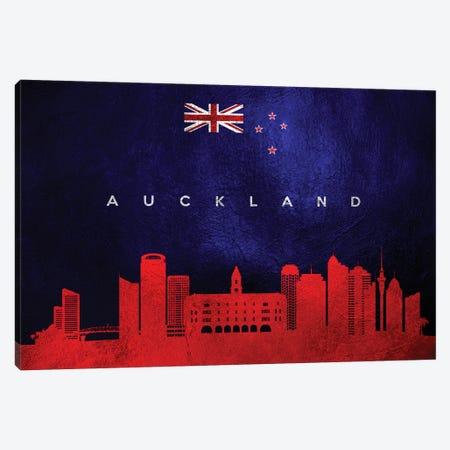 Auckland New Zealand Skyline Canvas Print #ABV161} by Adrian Baldovino Canvas Art