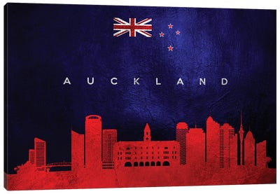 Auckland New Zealand Skyline Canvas Art Print