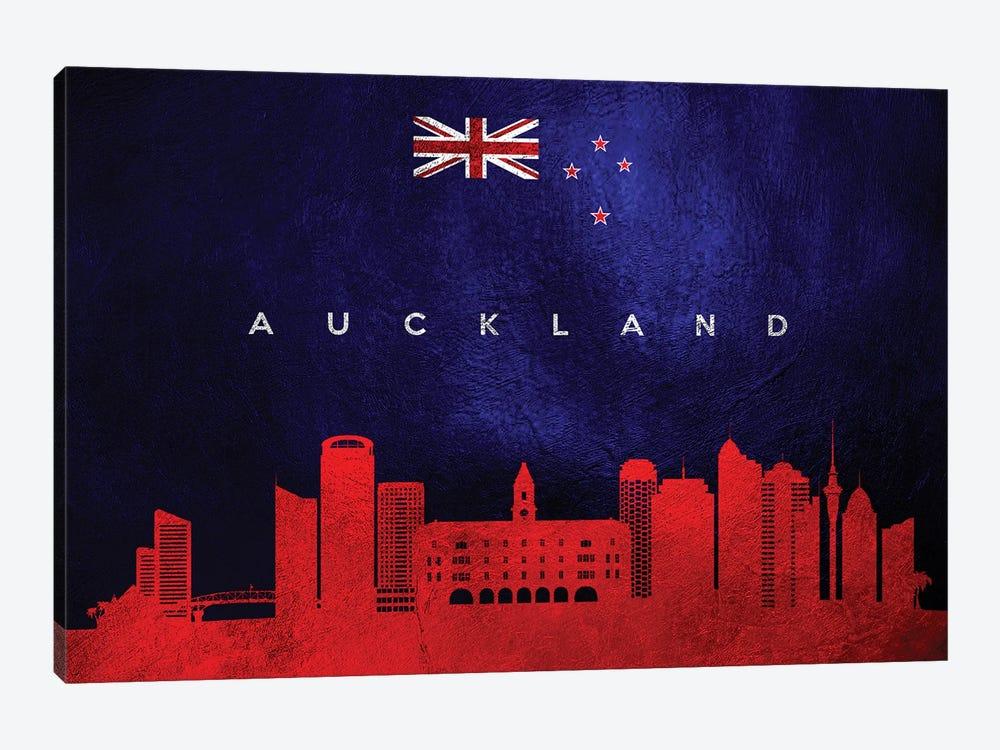 Auckland New Zealand Skyline by Adrian Baldovino 1-piece Canvas Wall Art