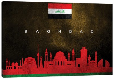 Baghdad Iraq Skyline Canvas Art Print