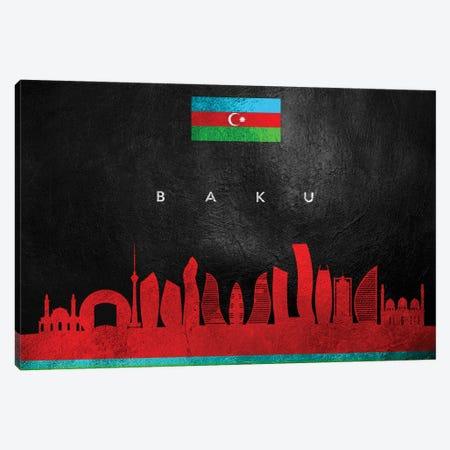 Baku Azerbaijan Skyline Canvas Print #ABV163} by Adrian Baldovino Canvas Artwork