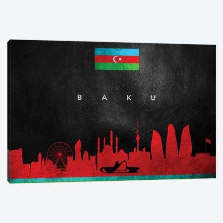 Baku Azerbaijan Skyline II Canvas Print #ABV164} by Adrian Baldovino Canvas Print