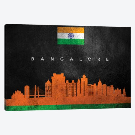 Bangalore India Skyline Canvas Print #ABV165} by Adrian Baldovino Canvas Print