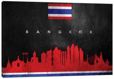 Bangkok Thailand Skyline II Canvas Art Print