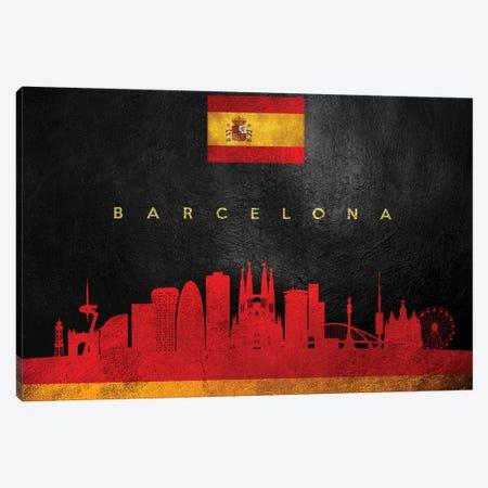 Barcelona Spain Skyline II Canvas Print #ABV169} by Adrian Baldovino Canvas Art