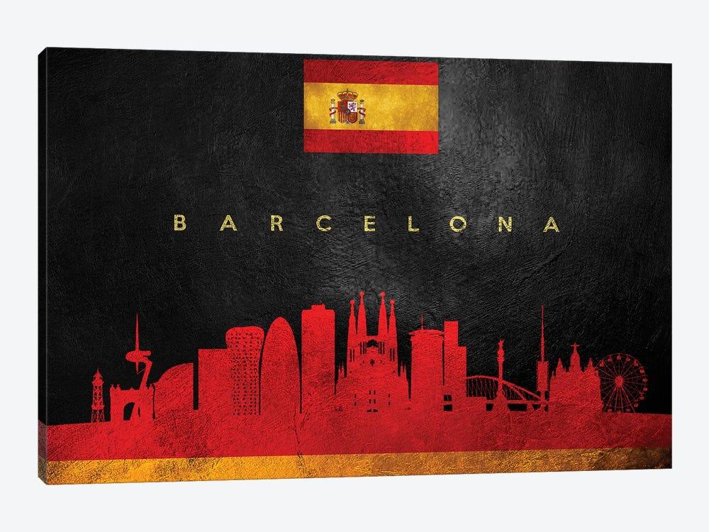 Barcelona Spain Skyline II by Adrian Baldovino 1-piece Canvas Artwork
