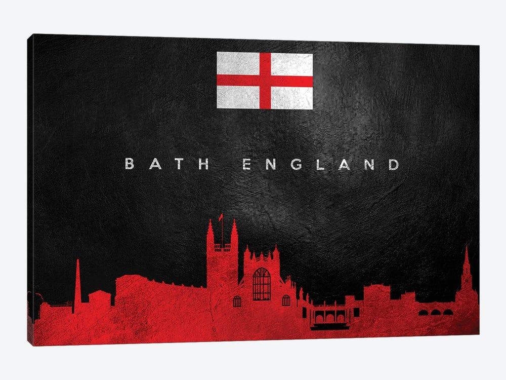 Bath England Skyline by Adrian Baldovino 1-piece Canvas Wall Art