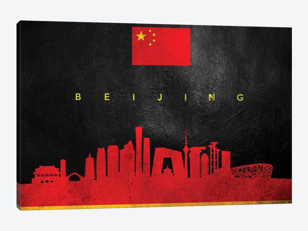 Beijing China Skyline by Adrian Baldovino 1-piece Art Print