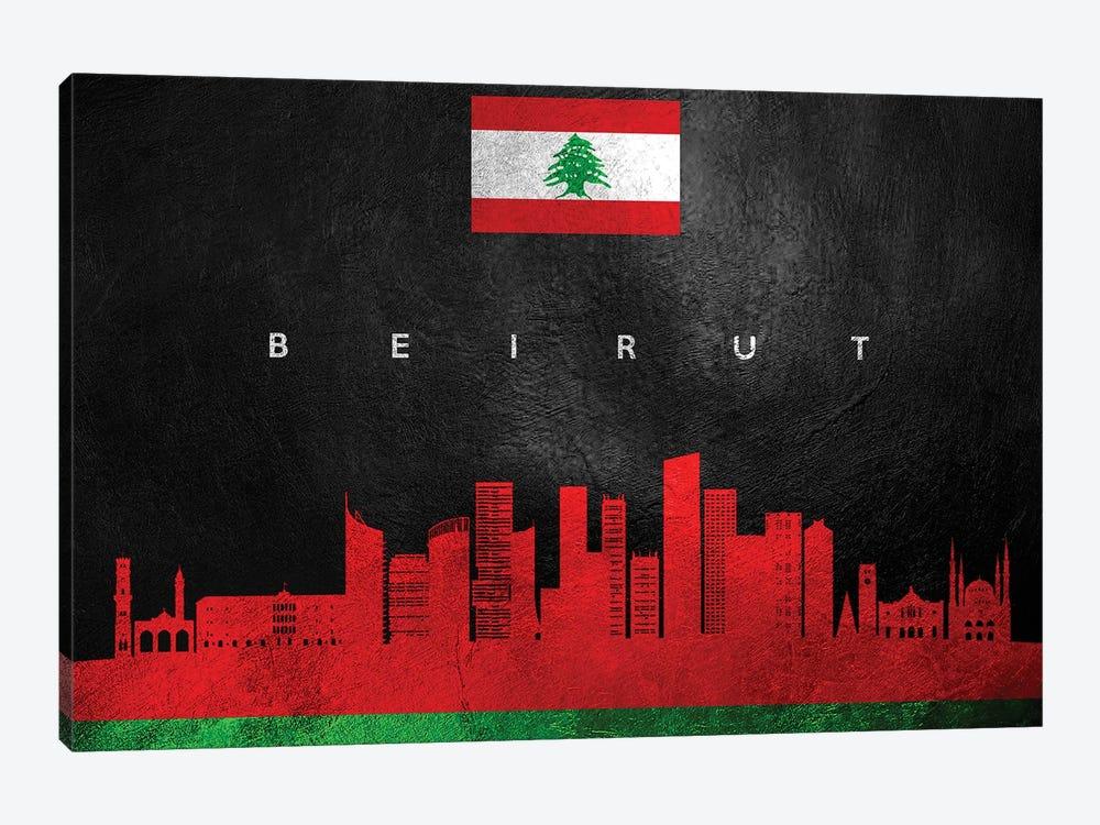 Beirut Lebanon Skyline by Adrian Baldovino 1-piece Canvas Artwork