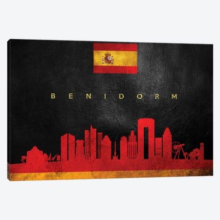 Benidorm Spain Skyline Canvas Print #ABV174} by Adrian Baldovino Canvas Artwork