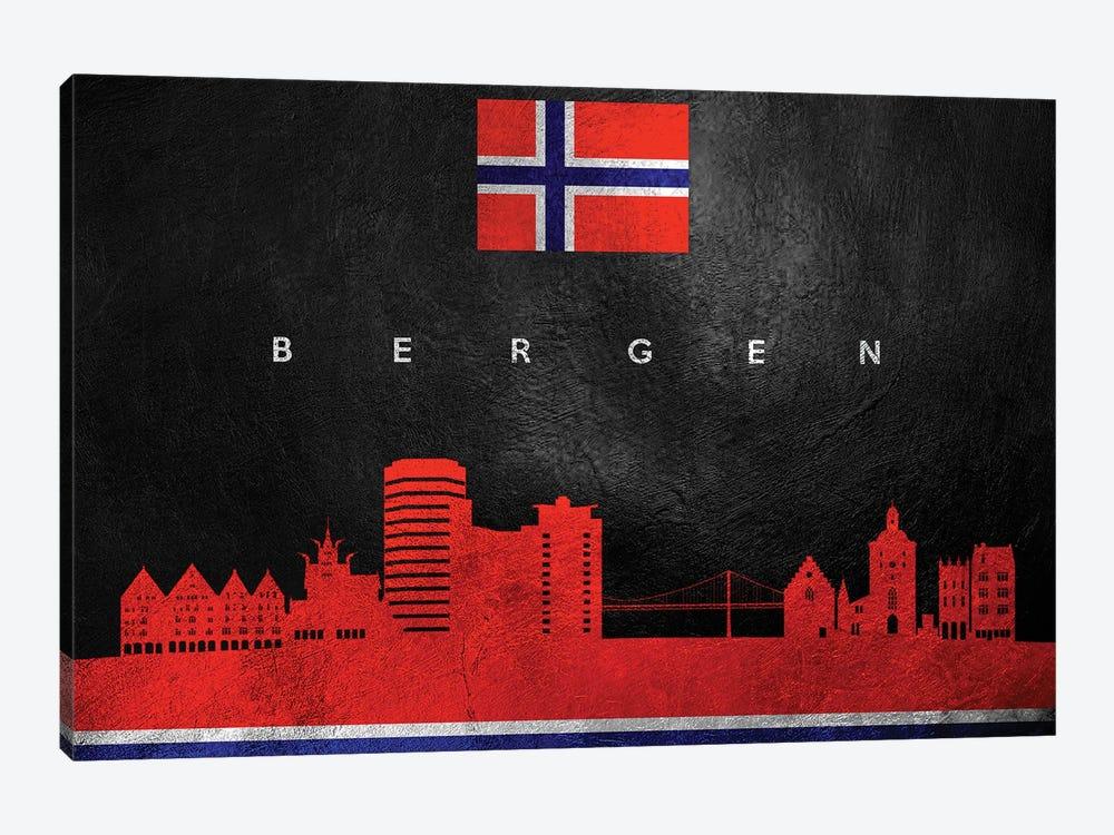 Bergen Norway Skyline by Adrian Baldovino 1-piece Canvas Print