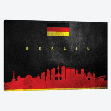 Berlin Germany Skyline II Canvas Print #ABV176} by Adrian Baldovino Canvas Artwork