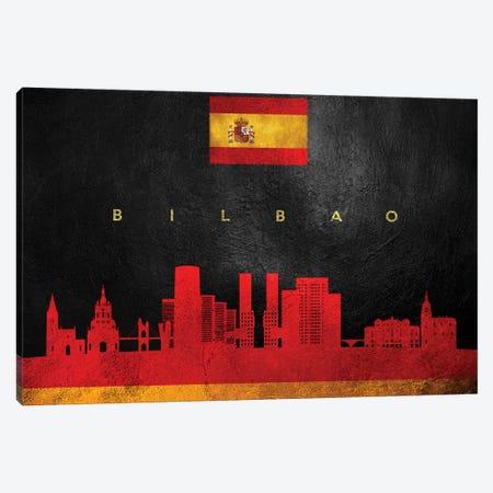 Bilbao Spain Skyline Canvas Print #ABV177} by Adrian Baldovino Canvas Art