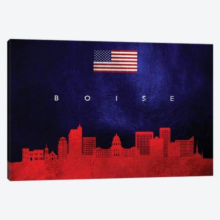 Boise Idaho Skyline Canvas Print #ABV17} by Adrian Baldovino Canvas Artwork