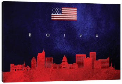 Boise Idaho Skyline Canvas Art Print