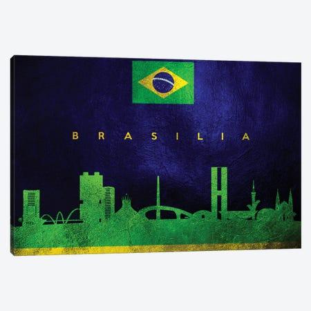 Brasilia Brazil Skyline Canvas Print #ABV180} by Adrian Baldovino Canvas Wall Art