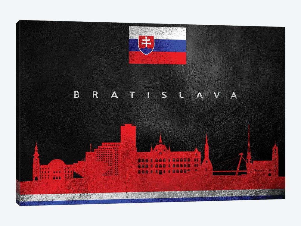 Bratislava Slovakia Skyline by Adrian Baldovino 1-piece Canvas Artwork
