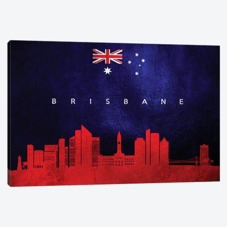 Brisbane Australia Skyline Canvas Print #ABV182} by Adrian Baldovino Canvas Wall Art