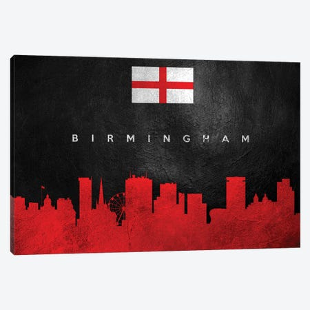 Birmingham England Skyline II Canvas Print #ABV183} by Adrian Baldovino Canvas Art
