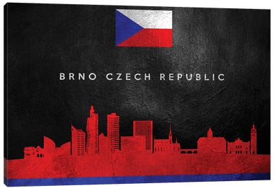 Brno Czech Republic Skyline Canvas Art Print