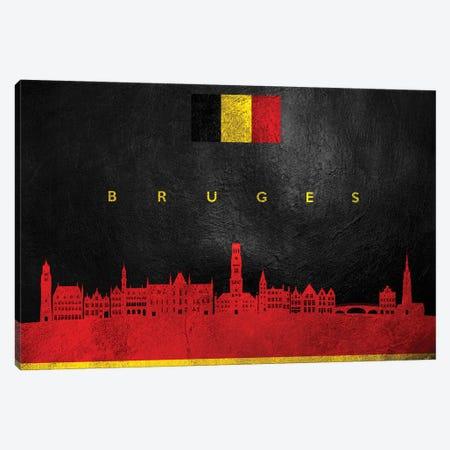 Bruges Belgium Skyline Canvas Print #ABV185} by Adrian Baldovino Canvas Art Print