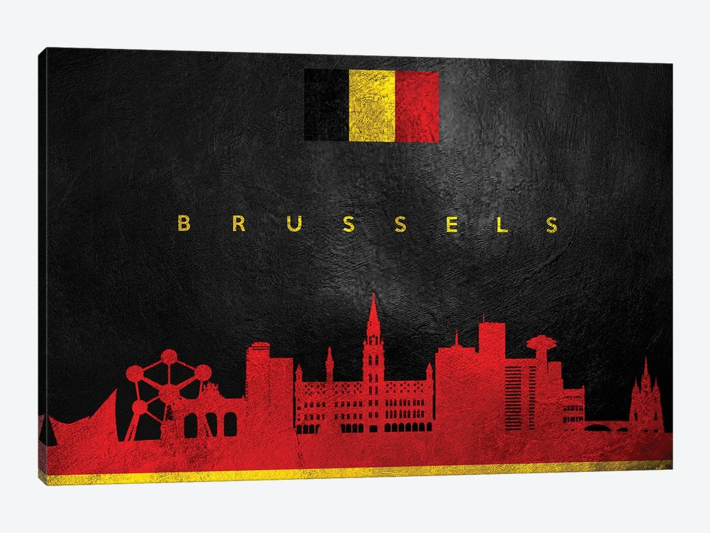 Brussels Belgium Skyline by Adrian Baldovino 1-piece Canvas Print