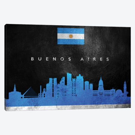 Buenos Aires Argentina Skyline Canvas Print #ABV189} by Adrian Baldovino Canvas Art