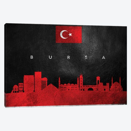 Bursa Turkey Skyline Canvas Print #ABV190} by Adrian Baldovino Canvas Art Print