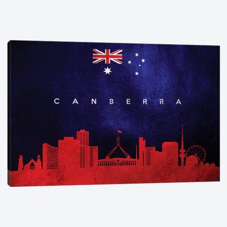 Canberra Australia Skyline Canvas Print #ABV191} by Adrian Baldovino Canvas Art Print