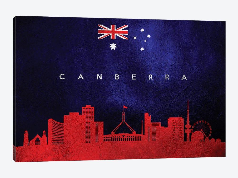 Canberra Australia Skyline by Adrian Baldovino 1-piece Canvas Art Print