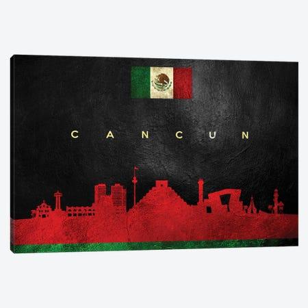 Cancun Mexico Skyline Canvas Print #ABV192} by Adrian Baldovino Canvas Art Print