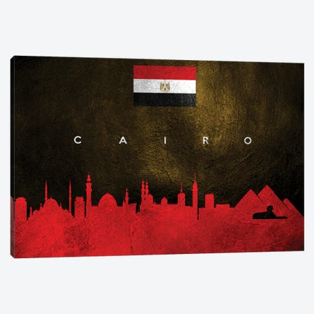 Cairo Egypt Skyline II Canvas Print #ABV193} by Adrian Baldovino Canvas Print