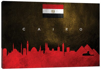 Cairo Egypt Skyline II Canvas Art Print
