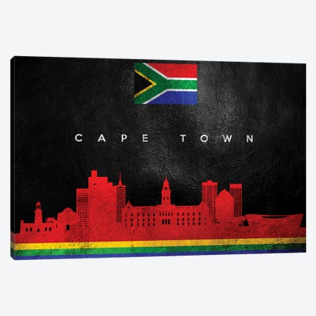 Cape Town South Africa Skyline Canvas Print #ABV194} by Adrian Baldovino Canvas Art