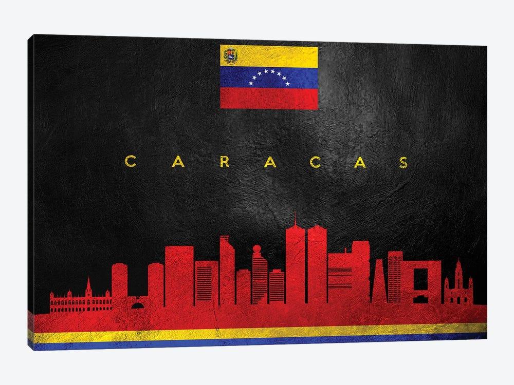 Caracas Venezuela Skyline by Adrian Baldovino 1-piece Art Print