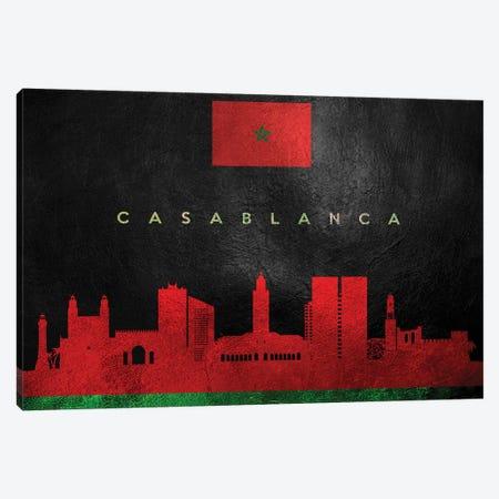 Casablanca Morocco Skyline Canvas Print #ABV196} by Adrian Baldovino Canvas Wall Art