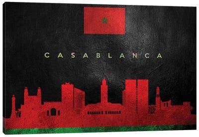 Casablanca Morocco Skyline Canvas Art Print