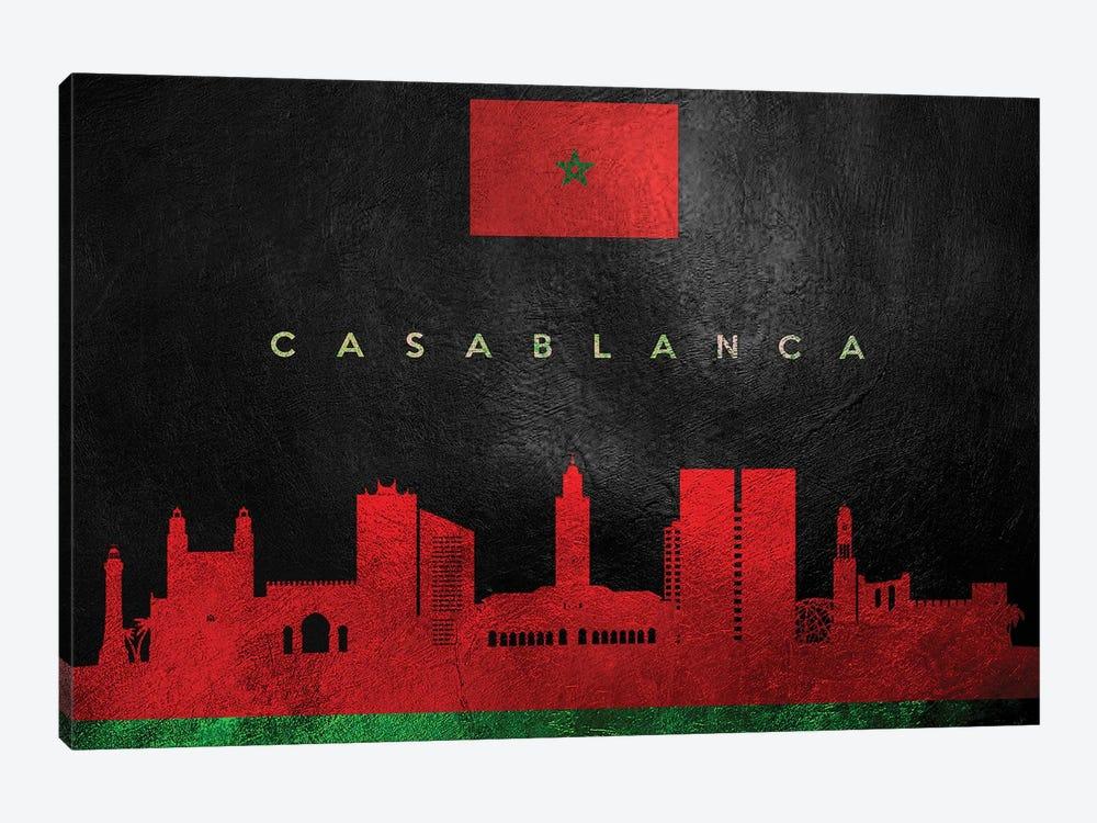 Casablanca Morocco Skyline by Adrian Baldovino 1-piece Canvas Artwork