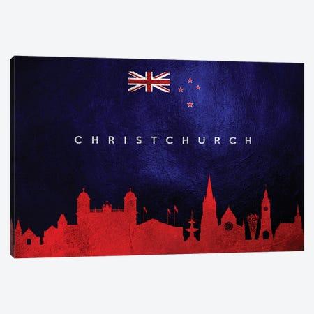 Christchurch New Zealand Skyline Canvas Print #ABV197} by Adrian Baldovino Canvas Art