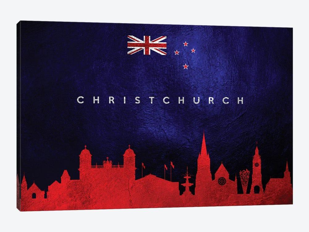 Christchurch New Zealand Skyline by Adrian Baldovino 1-piece Art Print