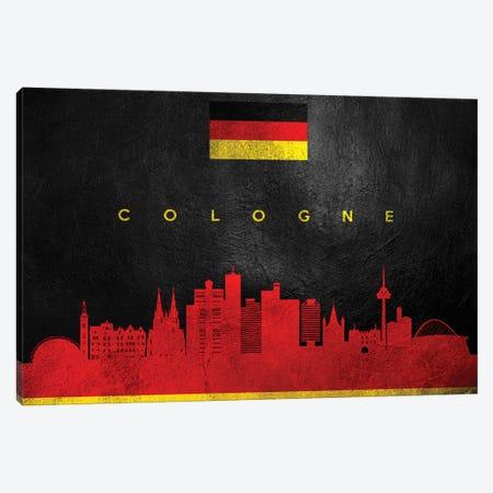Cologne Germany Skyline Canvas Print #ABV198} by Adrian Baldovino Canvas Print