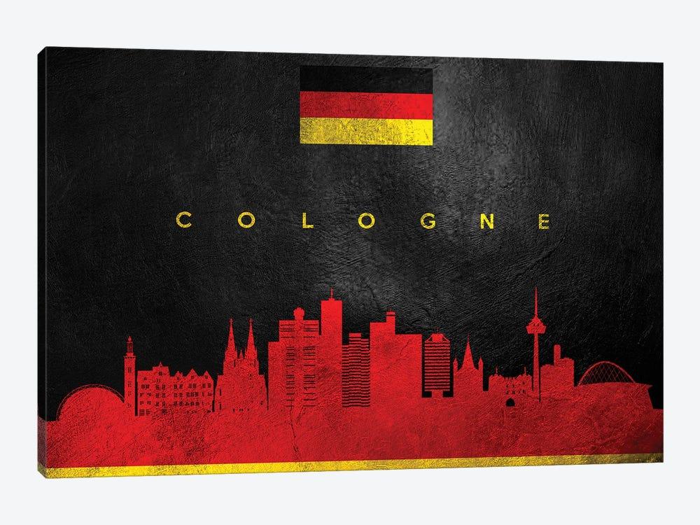 Cologne Germany Skyline by Adrian Baldovino 1-piece Canvas Artwork