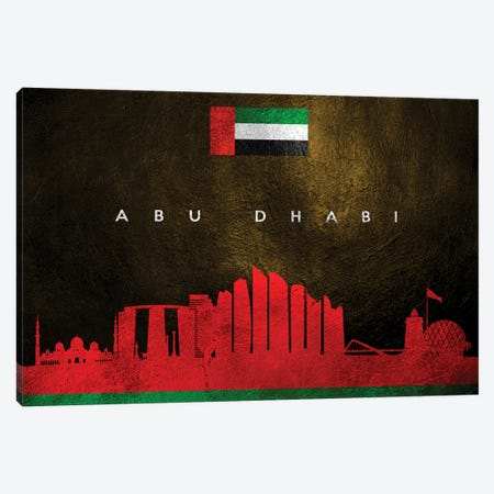 Abu Dhabi United Arab Emirates Skyline Canvas Print #ABV1} by Adrian Baldovino Art Print