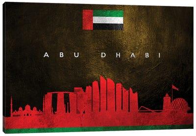 Abu Dhabi United Arab Emirates Skyline Canvas Art Print