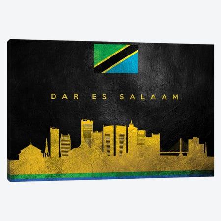 Dar Es Salaam Tanzania Skyline Canvas Print #ABV200} by Adrian Baldovino Canvas Art Print