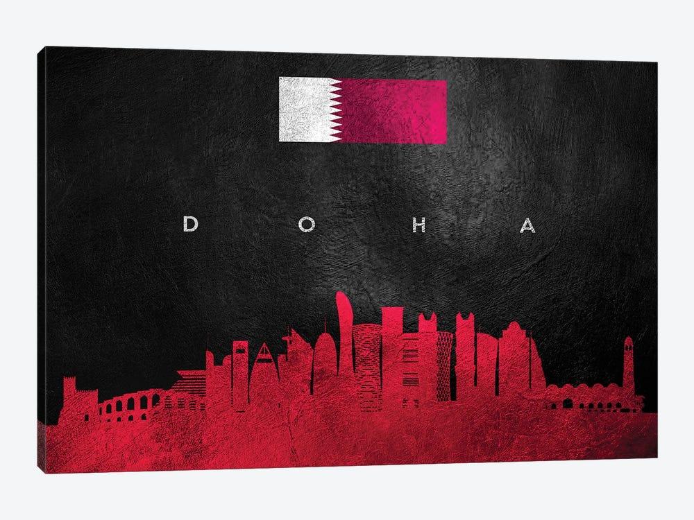 Doha Qatar Skyline by Adrian Baldovino 1-piece Canvas Art