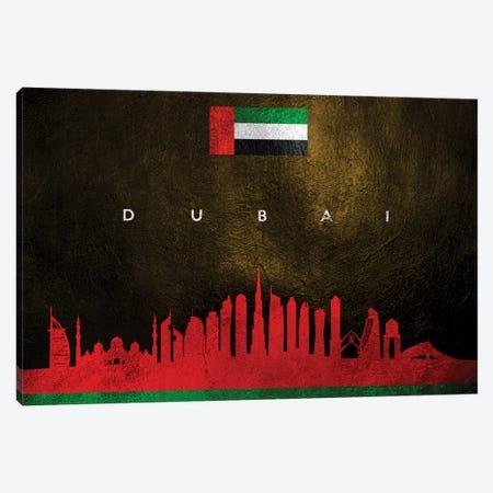 Dubai United Arab Emirates Skyline Canvas Print #ABV204} by Adrian Baldovino Canvas Wall Art