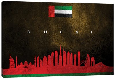 Dubai United Arab Emirates Skyline Canvas Art Print