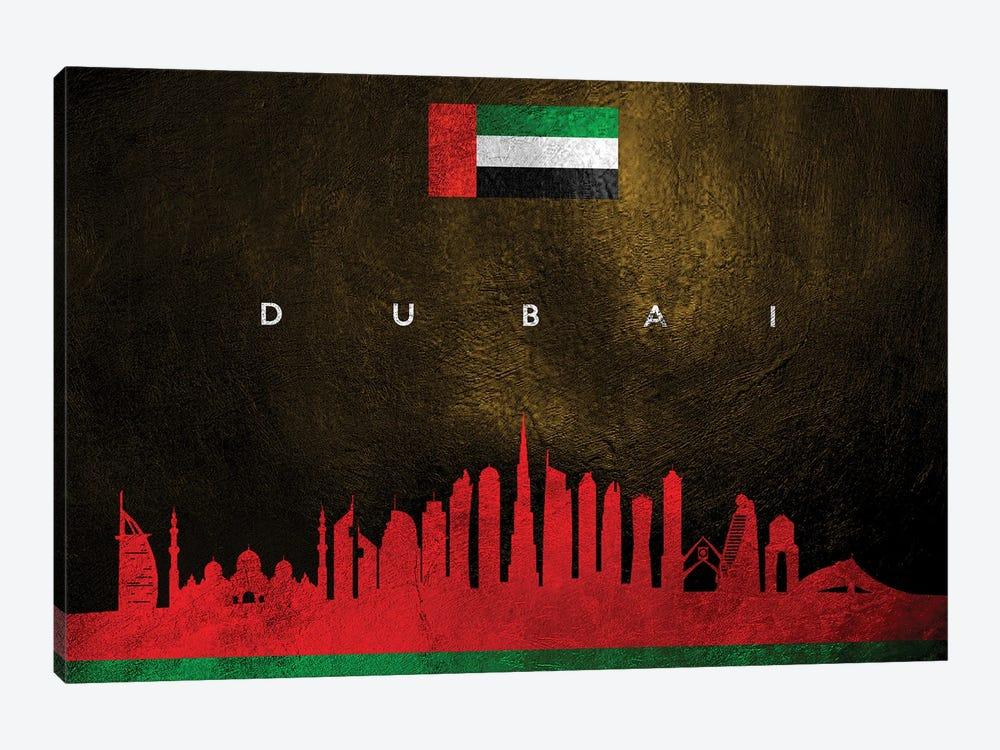 Dubai United Arab Emirates Skyline by Adrian Baldovino 1-piece Canvas Art Print
